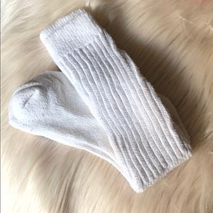 Hooters White Socks Long Uniform Used